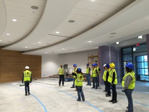 getting a view of the meeting spaces