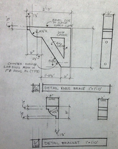 construction detail of picture frame