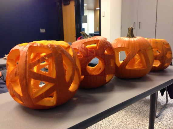 pumpkins carved to be structurally robust