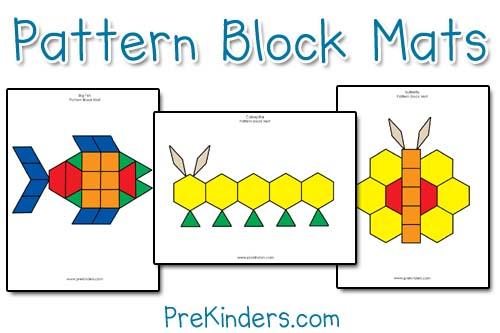 prekinders pattern-block-mats