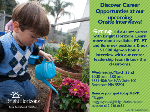 Spring Event BH onsite interviews