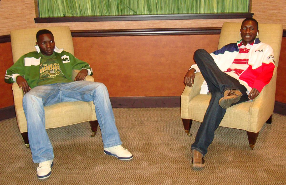 Geofrey Kalanzi (left) and brother Moses Kabogoza