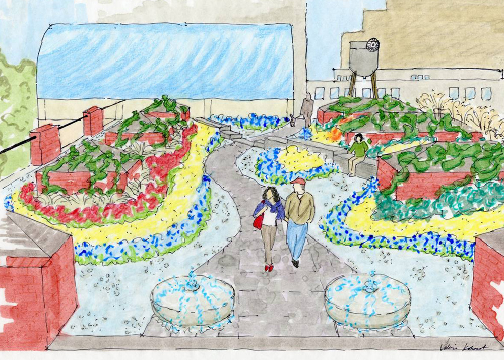 Riverplace Shopping Center Green Rooftop Garden Plan