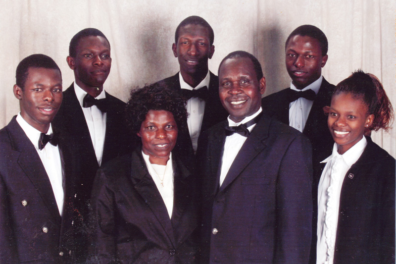 The Masaki Family | (left to right) Abednego, Shadrack, Yuvencia, Bob, William, Meshack, Faith