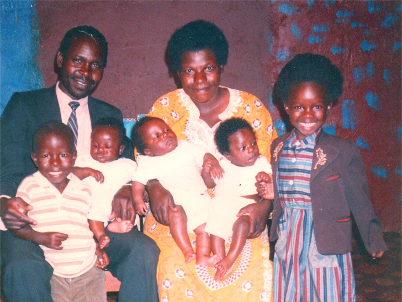 The Masaki Family in Kenya | (left to right) Bob, William,Shadrack, Meshack, Yuvencia, Abednego, Faith