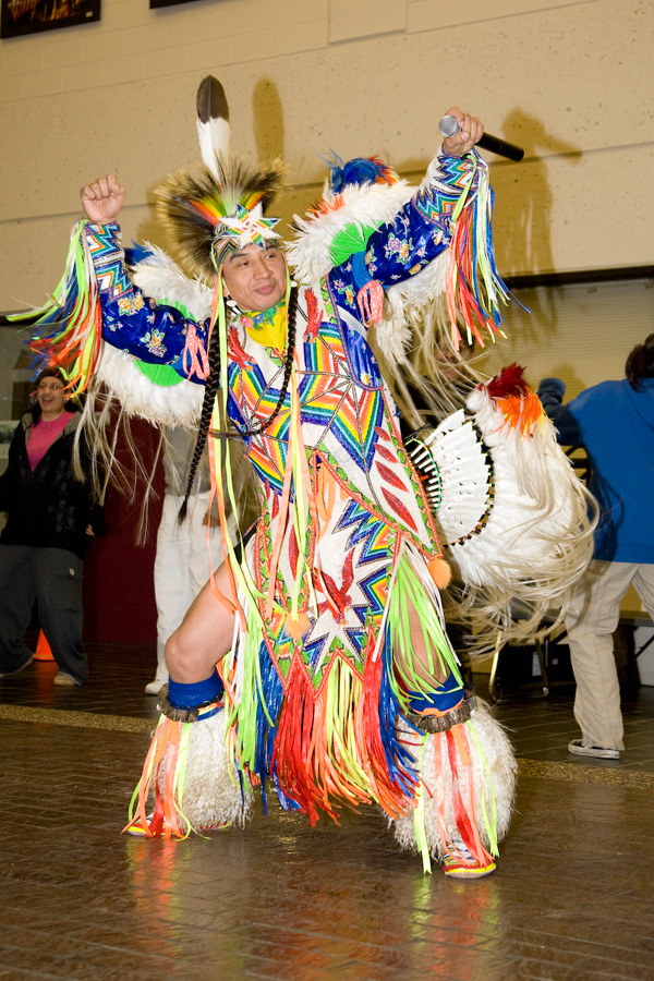 American Indian Fancy Dancer Larry Yazzie