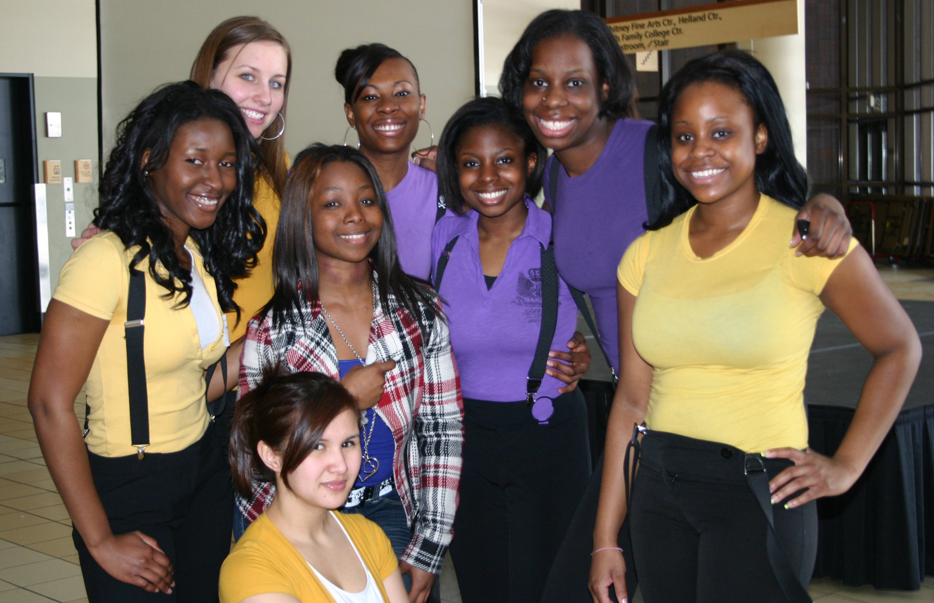 Mav Steppers with Nellie Francis (far left)