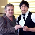 Instructor Bill Eilers with Alexander Just, winner, Best Photographic Portfolio