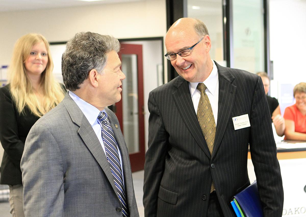 U.S. Senator Al Franken with DCTC President Ron Thomas