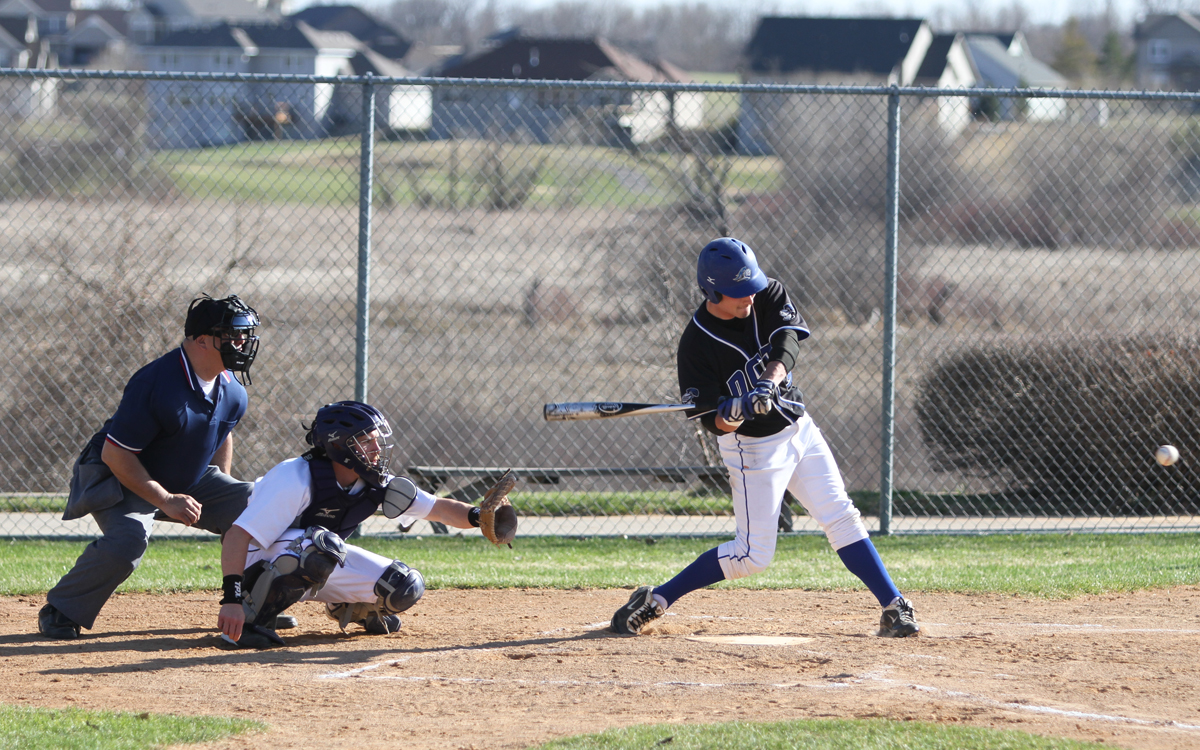 Sophomore Outfielder Dylan Peterson tags grand slam in home win over Northwestern College JV (April 2011)