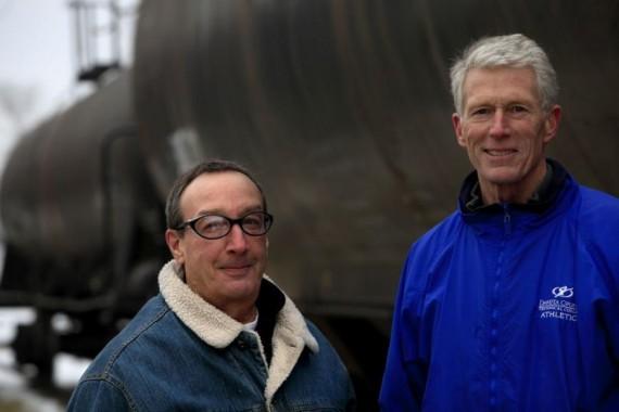 Left to Right: Dan Spano, Railroad Conductor Instructor, and, Larry Raddatz, program director. Photo courtesy of: Joel Koyama, Star Tribune