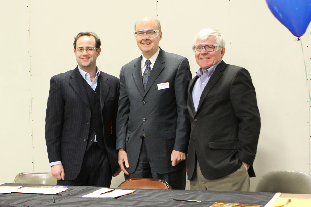 (left to right) David Kutoff, President and CEO of MPC | Dr. Ron Thomas, President of DCTC | Paul Moe, Director of MJSP