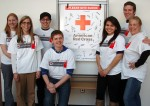 DCTC Student Senate Executive Board during American Red Cross Blood Drive (left to right) Assistant Student Life Director Anna Voight, Student Life Director Nicole Meulemans, Sergio Garcia, Andy Chernisky, Jocelyn Vergara, Benjamin Jackson, Nancy Al-Kordi