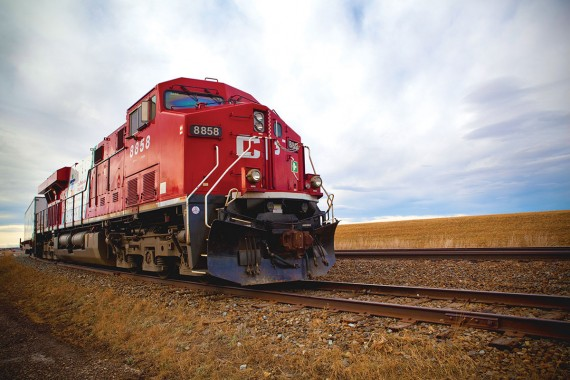 Locomotive on the prairies | Photo courtesy of www.cpr.ca