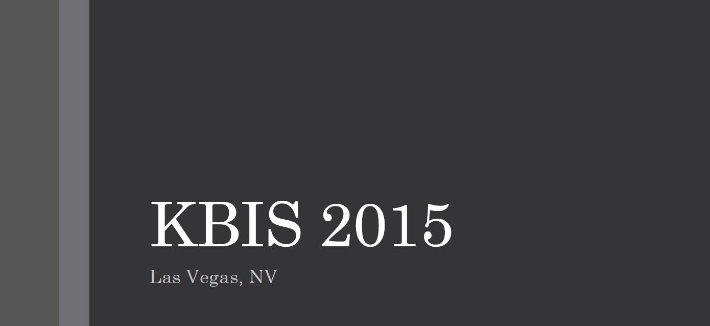 KBIS 2015 PowerPoint