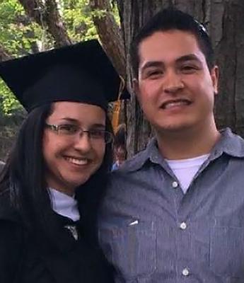 Marisela and husband Rodrigo at her graduation from St. Kate's