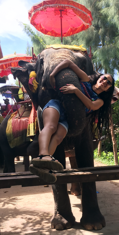 Osiris and a friendly elephant