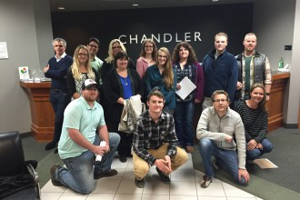 DCTC Interior Design and Architecture students visited Chandler.