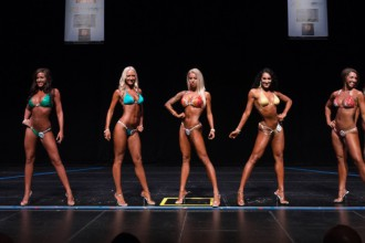 Katelyn and other competitors on stage.