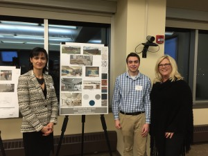 Guyon Brennao, Dyonne Danielson, Filiz Guvenen and Cameron Johnson took third in the USGBC-MN Natural Design Competition.