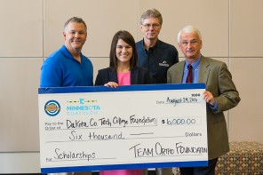 DCTC Foundation receives $6,000 donation from Team Ortho
