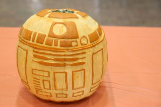 The IT Club won the 2015 contest with a R2-D2 design.