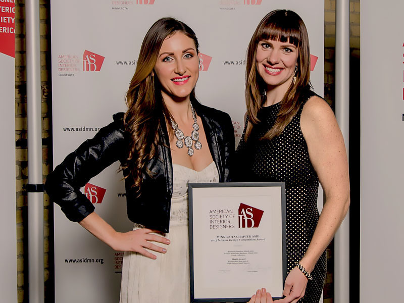 Kristin Rackner and Kimberly Scanlon at ASID MN 2015 Awards