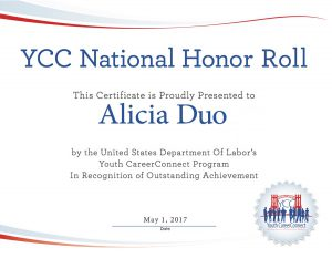 YCC National Honor Roll