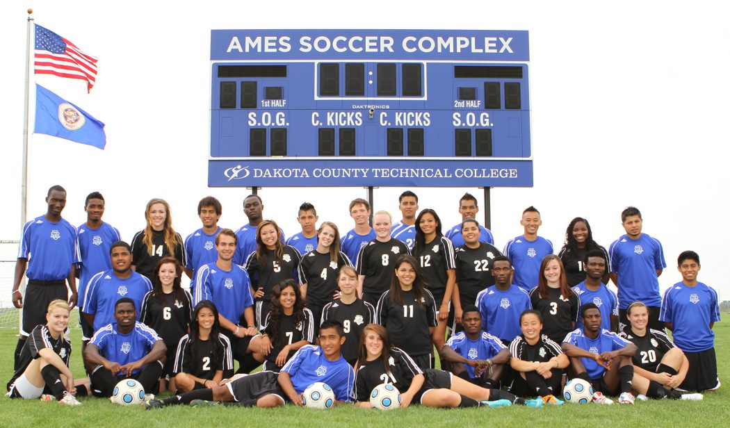 2012 Blue Knights women and men's soccer teams