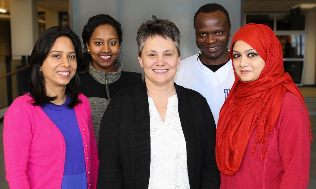 DCTC Student Senate Executive Board: Kusum Joshi, Yeti Tessma, Cheryl Brogger, Ayuba Dansoho, Sumi Khan
