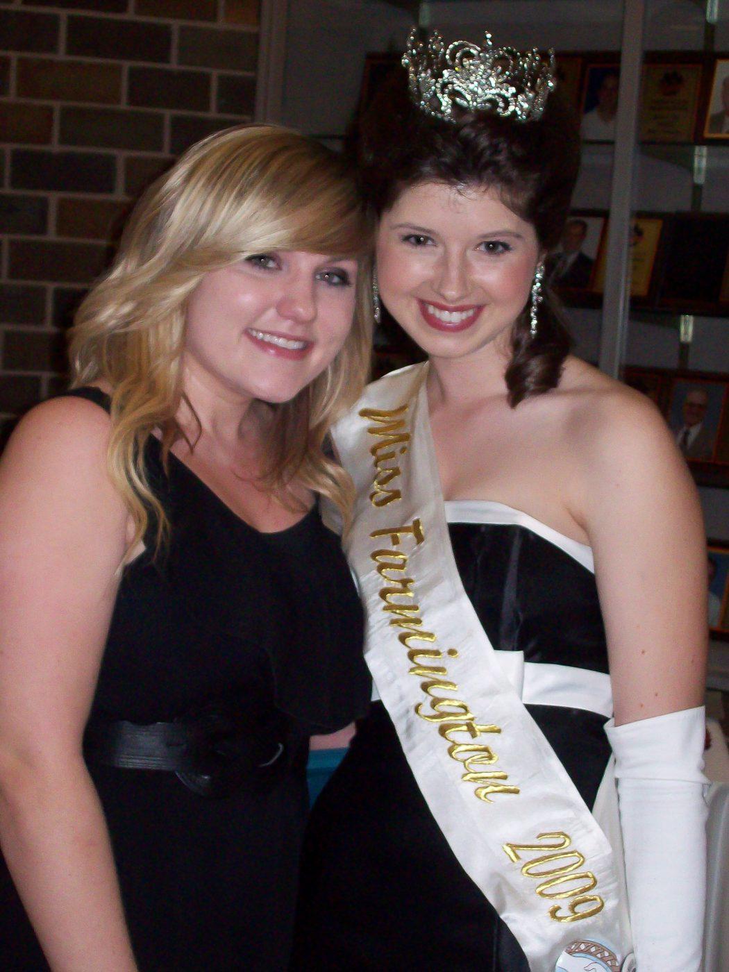 With former Miss Farmington
