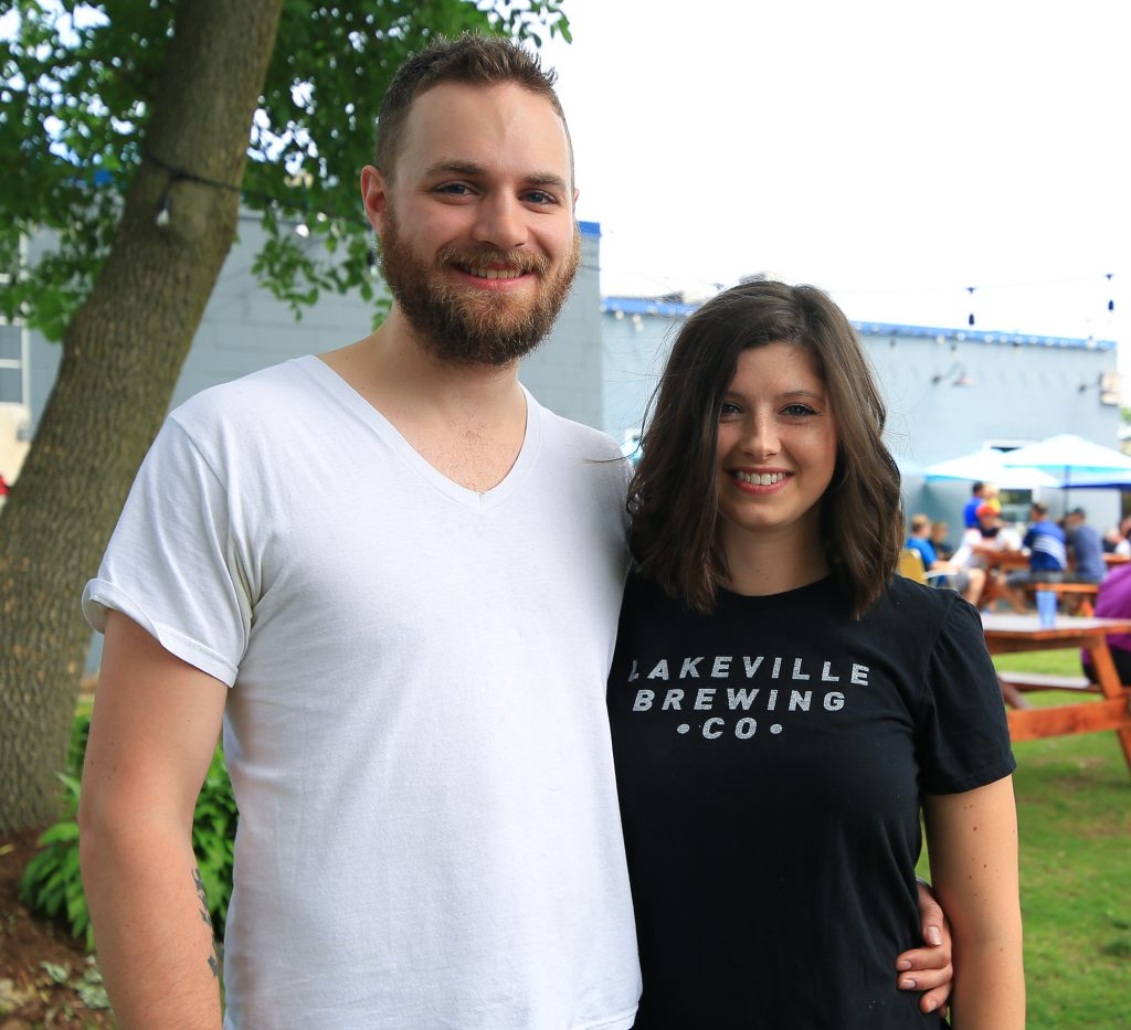 Rachel and Aaron after hair donation