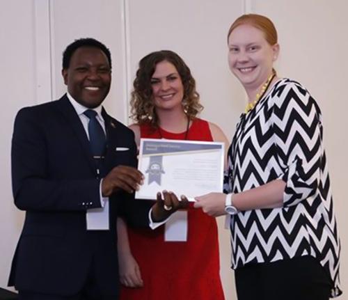 Anna Voight accepting award