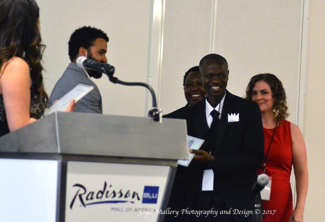 Branko Tambah accepting award