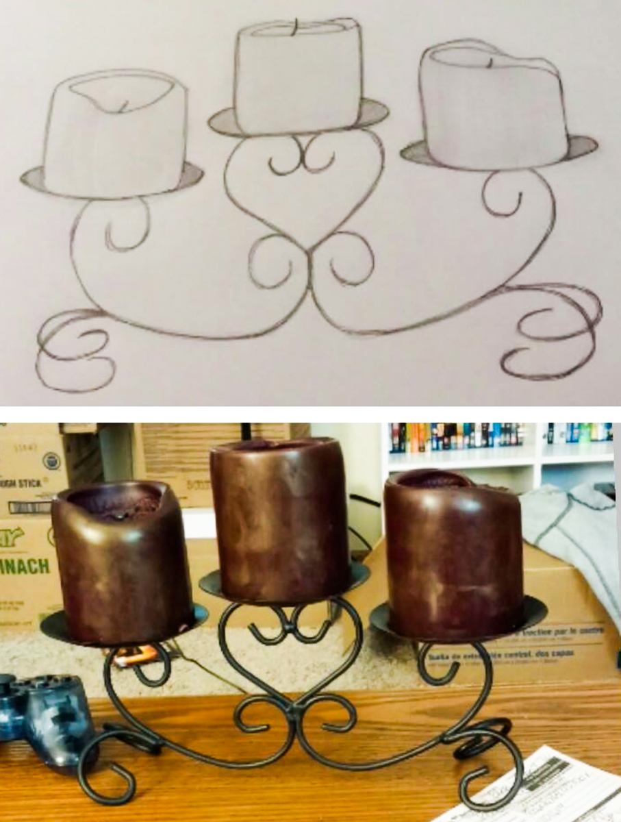 Candles drawing