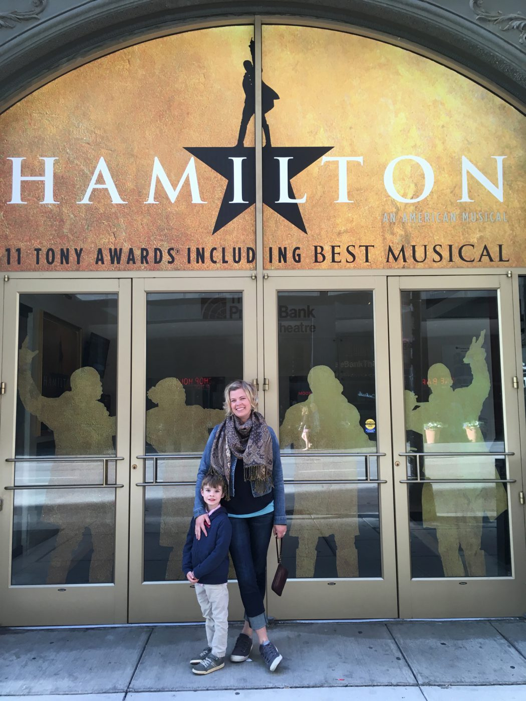 Going to a musical with Finn
