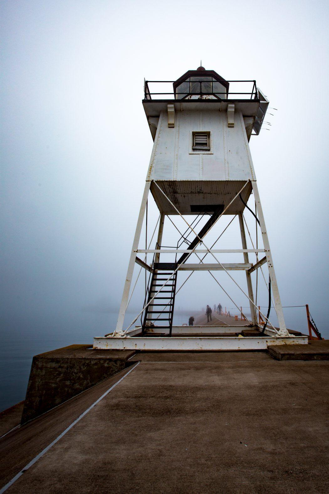 Grand Marais Lighthouse in Fog
