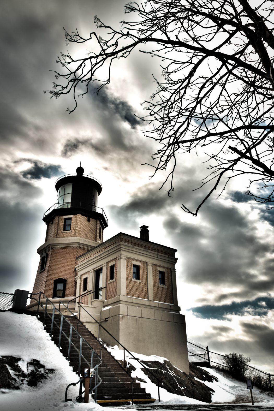 Split Rock Lighthouse w/ Tree
