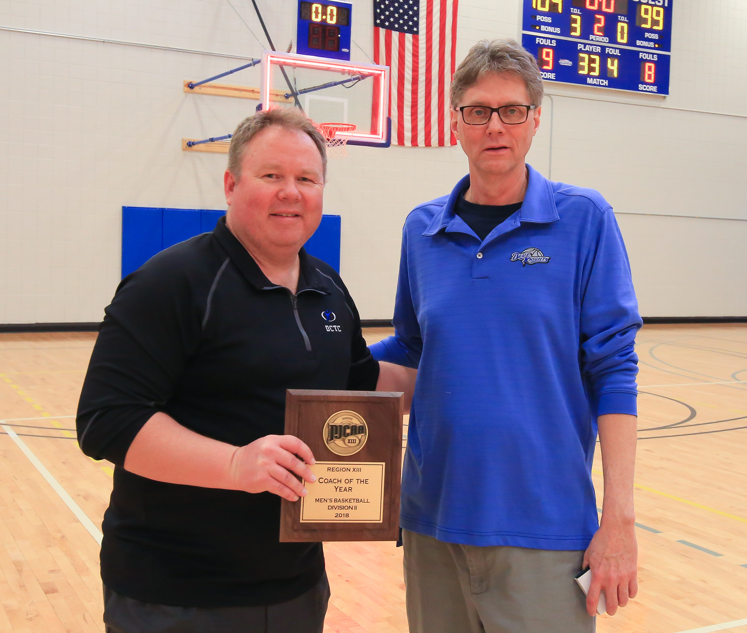 Coach Kelly Boe and President Tim Wynes