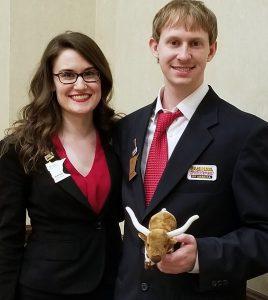 BPA State Officers Marta Roth and Ryan Monio