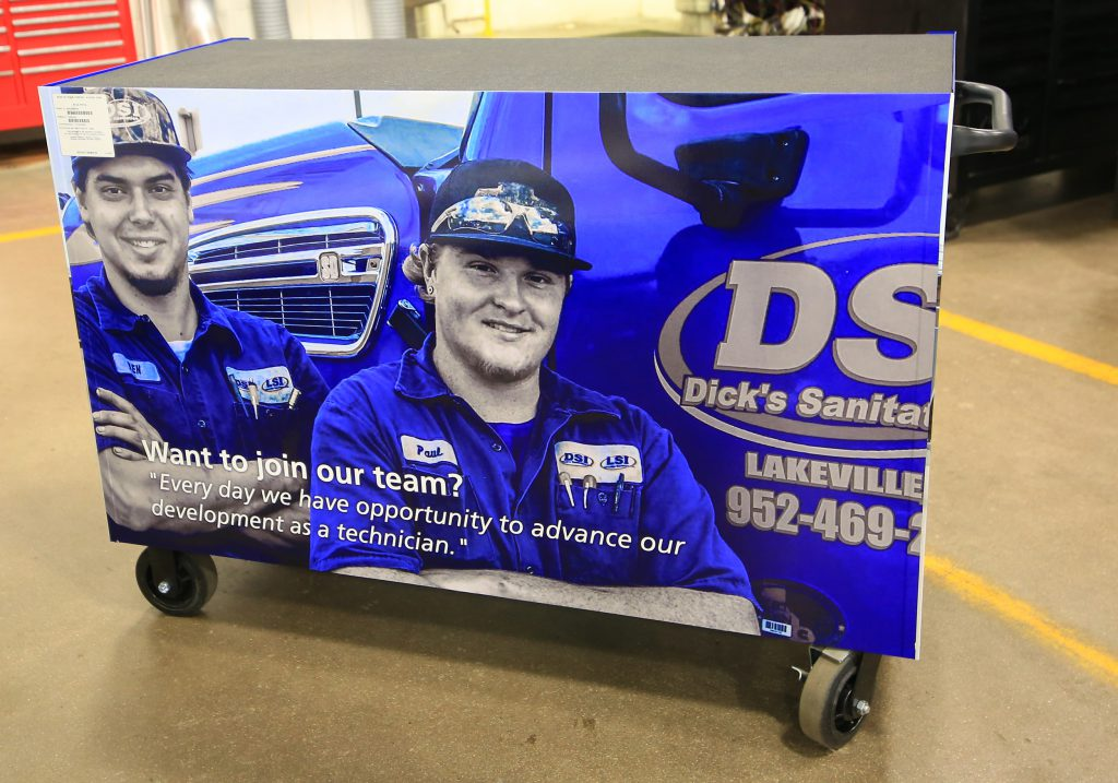 Ben Krueger and Paul Thomas, HDTT graduates and DSI truck mechanics
