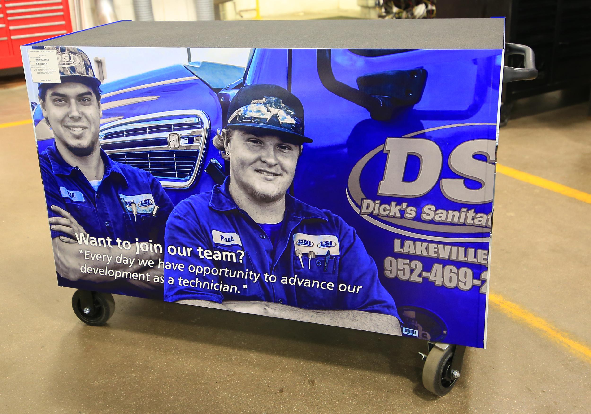Ben Krueger and Paul Thomas, HDTT graduates and DSI truck mechanics