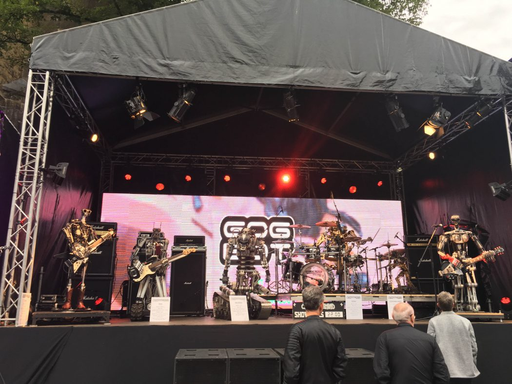 Robot Band at Gogbot Festival in Enschede Center