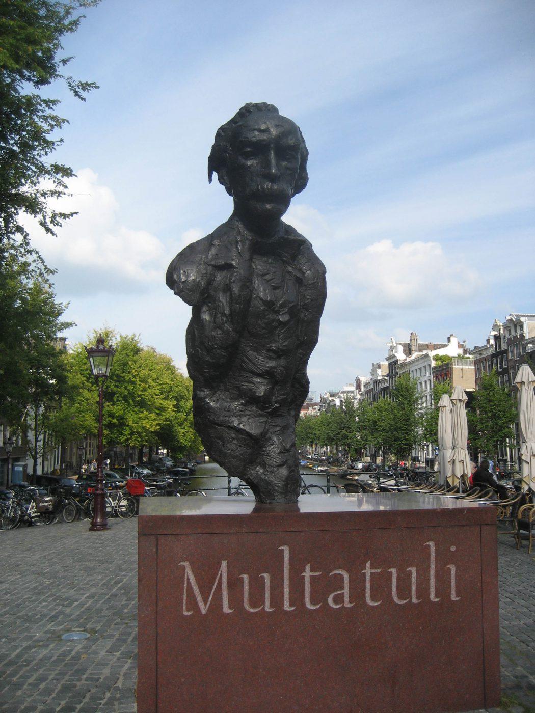 Writer Mutlatuli statue in Amsterdam