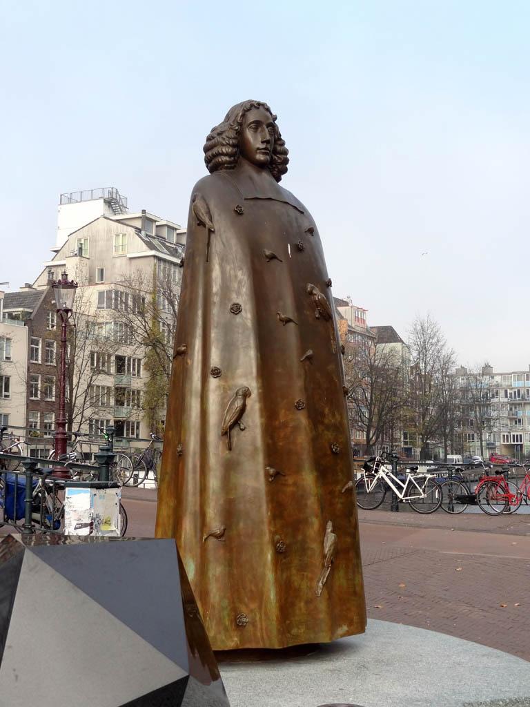 Spinoza statue in Amsterdam
