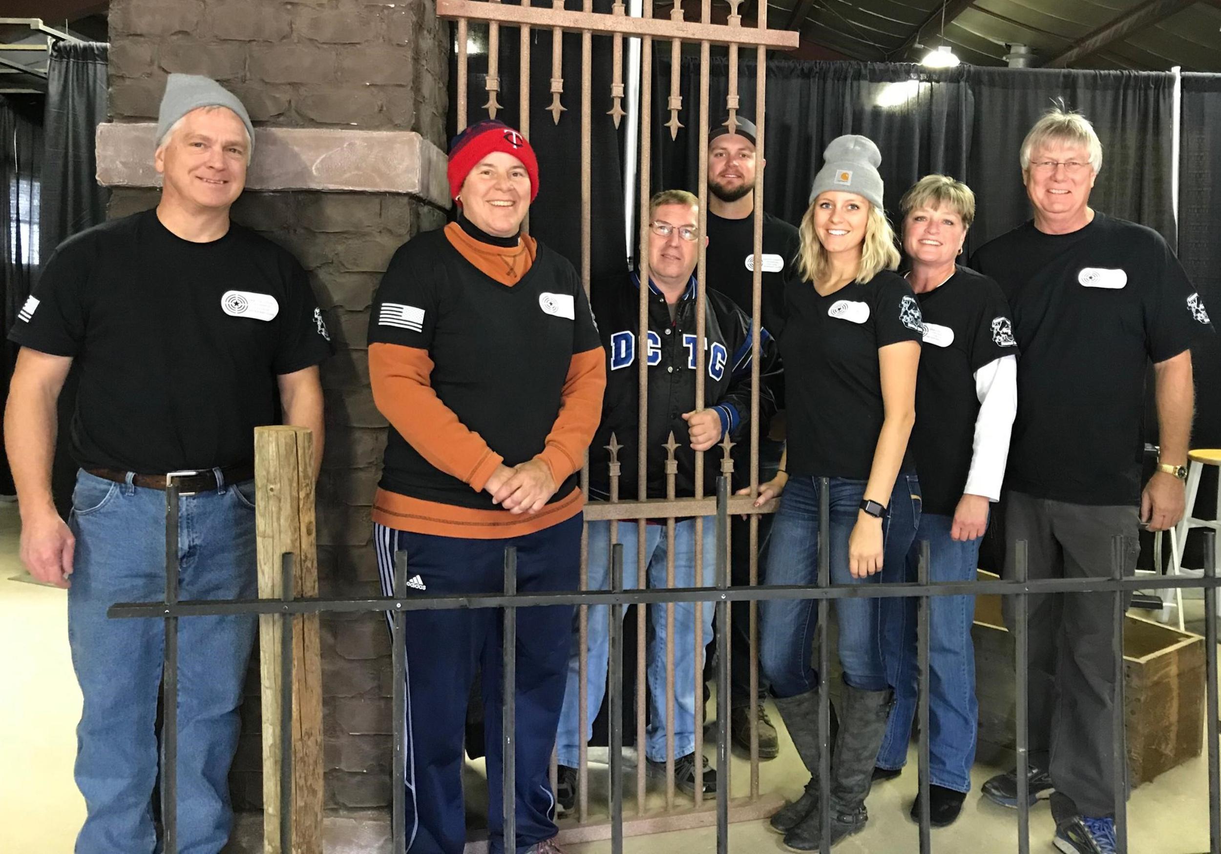 (left to right) Brian Bachman, Kim Schroeder, Randy Nicol, Lee Frandrup, Kayla Frandrup, Diane Frandrup, Vern Frandrup