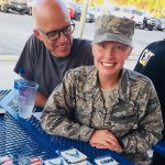 Mike with daughter, Becca, USAF Reserves