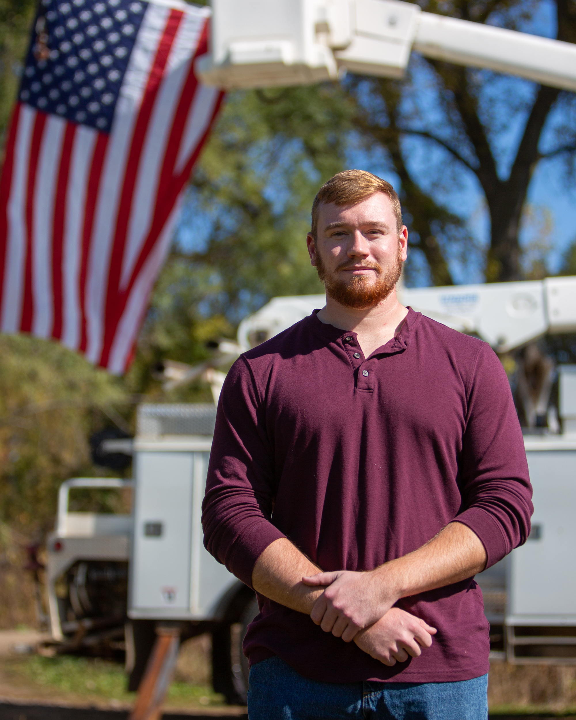 Garrett McAdams, U.S. Marine Corps veteran, Electrical Construction & Maintenance Technology