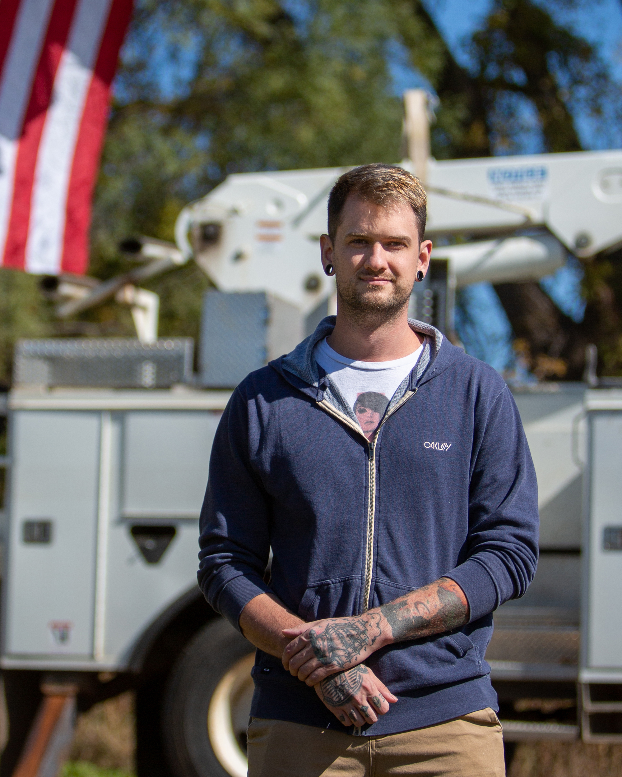 Sam Sherman, U.S. military veteran, Electrical Construction & Maintenance Technology