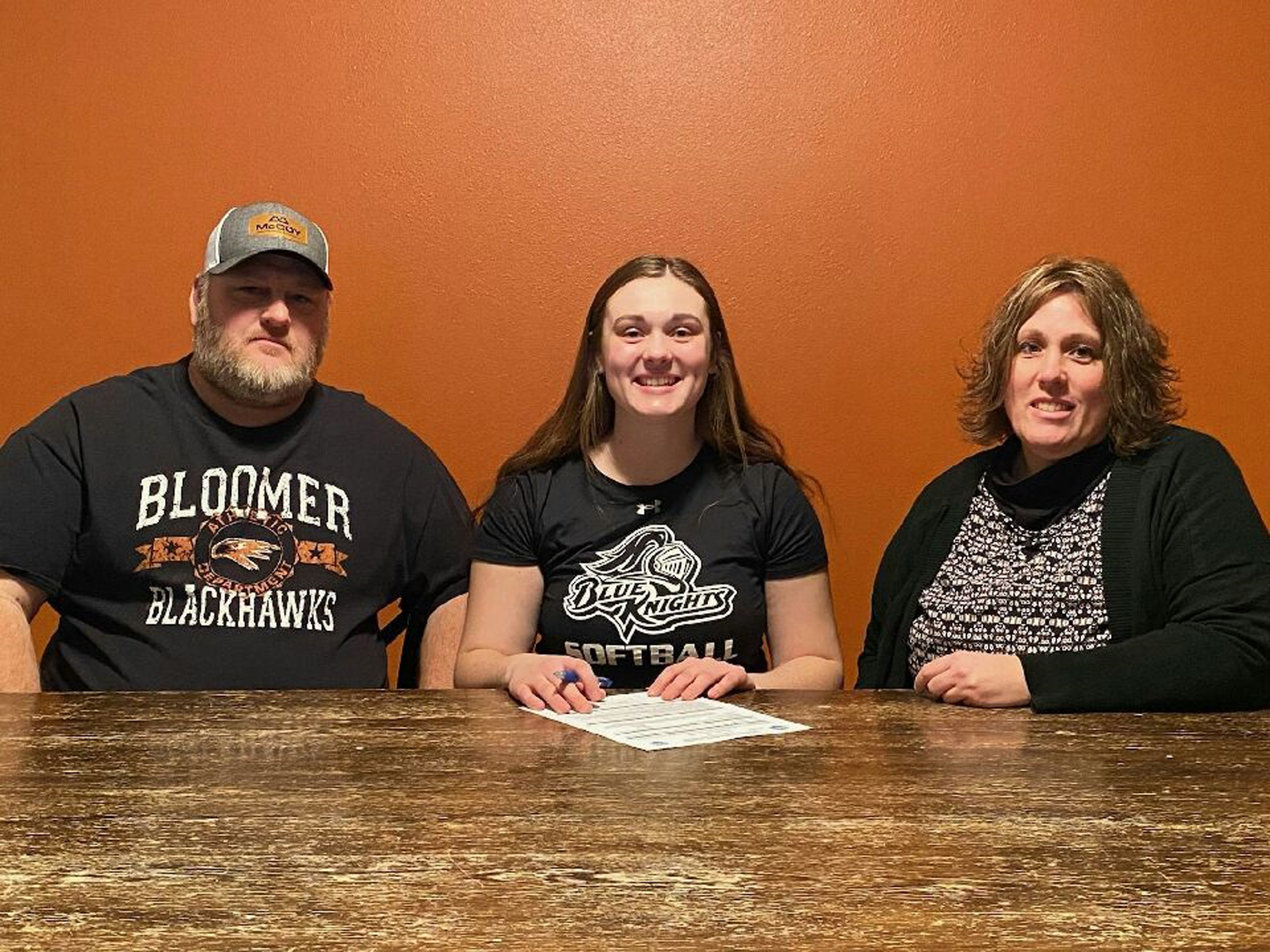 Emily Kuehl with parents